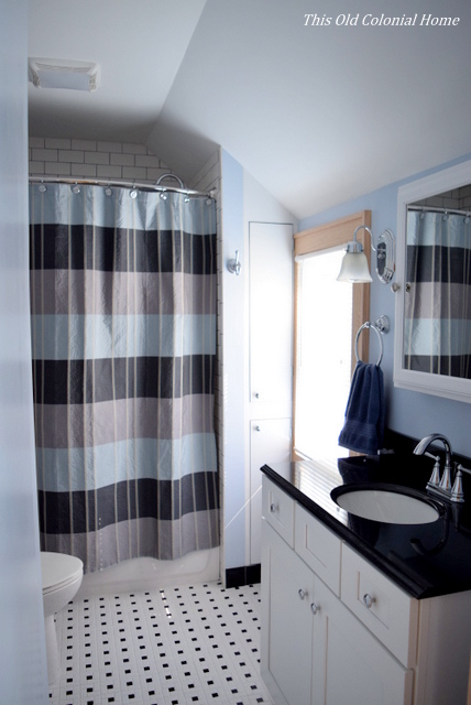 Black and white bathroom renovation
