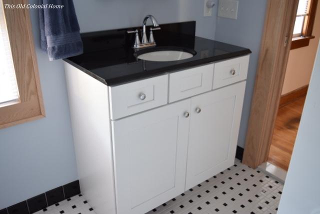 Shaker style bathroom vanity