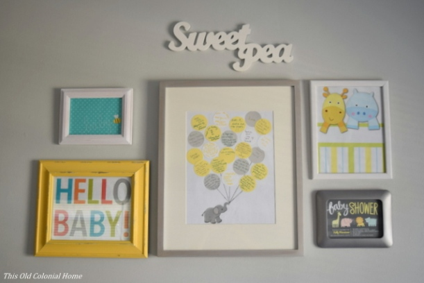 Gray nursery gallery wall DIY