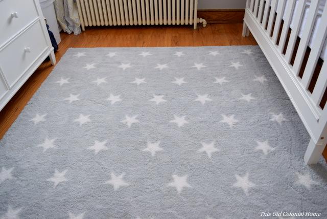 Circo gray stars area rug