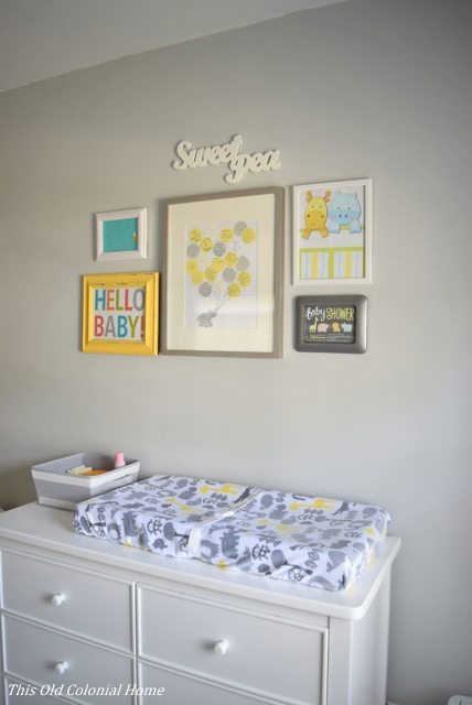 DIY gallery wall for gender neutral nursery