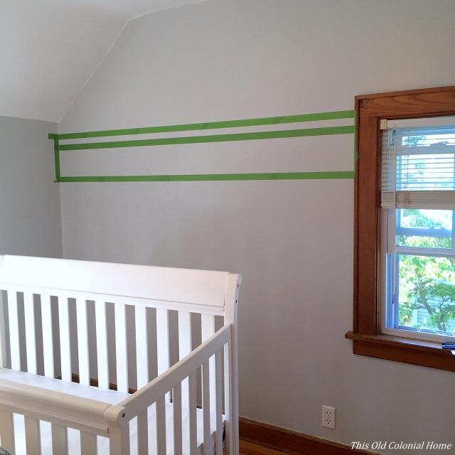 Paint stripes in nursery using Frog's Tape