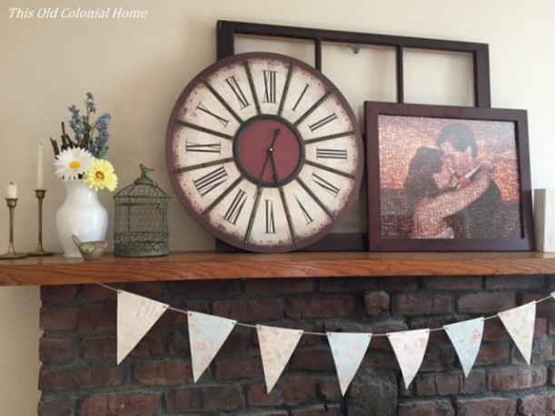 Scrapbook paper flag banner diy