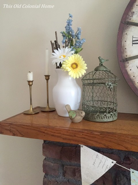 White spray painted glass vase