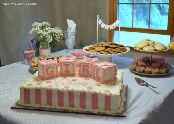 baby girl block cake