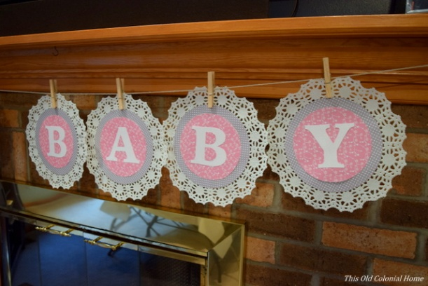 baby doily banner
