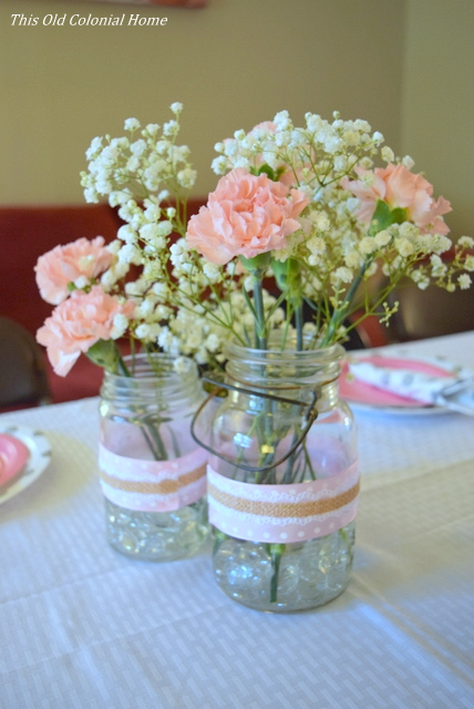 ... Baby Shower Mason Jar Centerpieces