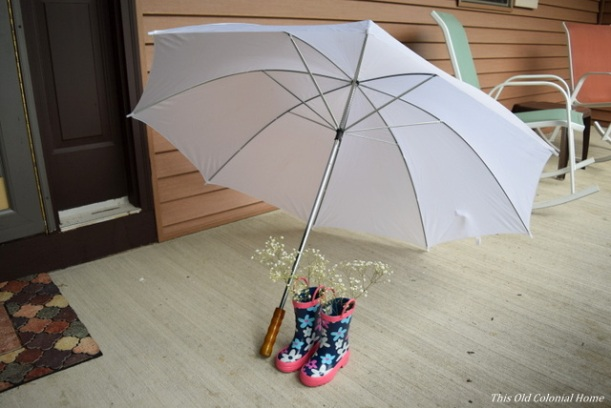 baby shower umbrella decor
