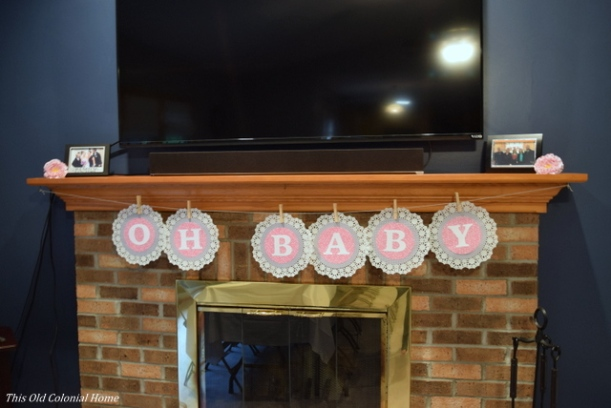 baby shower banner diy